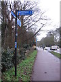 TL4456 : Trumpington Road, with signpost by Virginia Knight