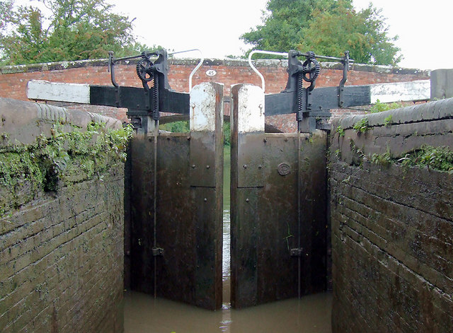 In Lock No 24 near Stoke Wharf, Worcestershire