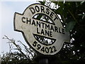 ST5902 : Chantmarle: finger-post detail by Chris Downer