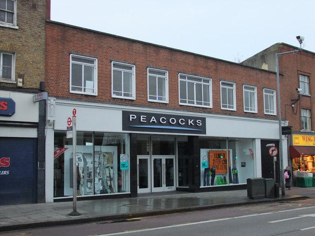Peacocks shop, Denmark Hill. Camberwell