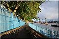 TQ3380 : Riverside walk (Thames Path) by N Chadwick