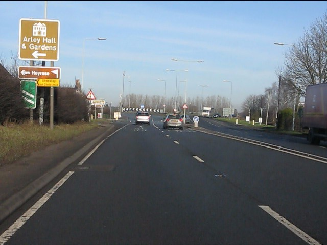 A556 approaching the M6 junction