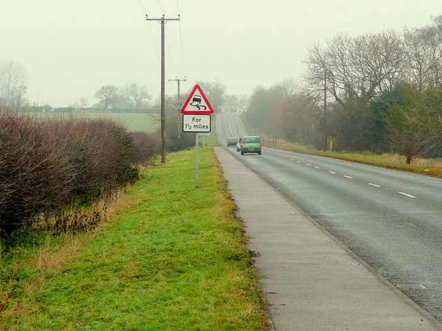 A6121 towards Bourne