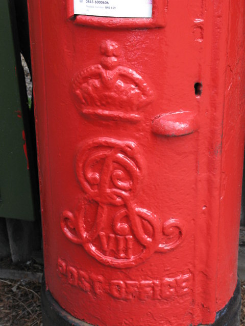 Edward VII postbox, Beckenham Lane / Meadow Road, BR2 - royal cipher