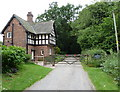 SJ6880 : Gatehouse on Sack Lane - Arley Hall estate - Cheshire by Anthony O'Neil