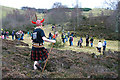 NT4828 : The 2011 Haggis Hunt on Selkirk Hill by Walter Baxter
