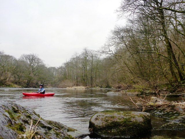 Cobble Dub below Davybank Wood on the River Lune