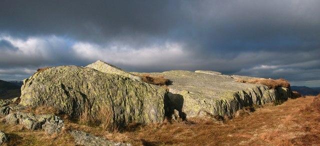 Rock slab on the summit of Eagle Crag