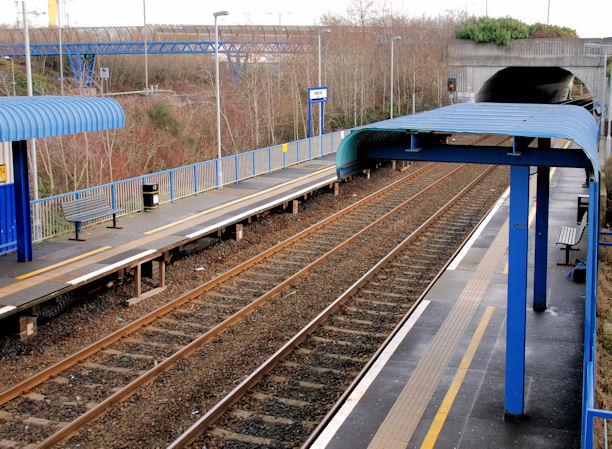 Passenger shelters, Bridge End station, Belfast (1)