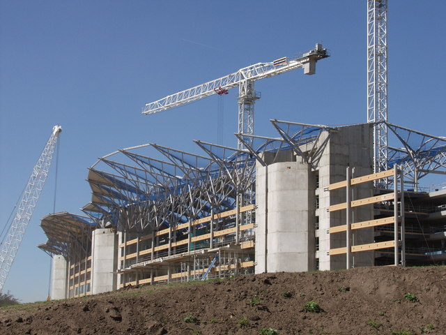 Construction of the new Ascot Races grandstand