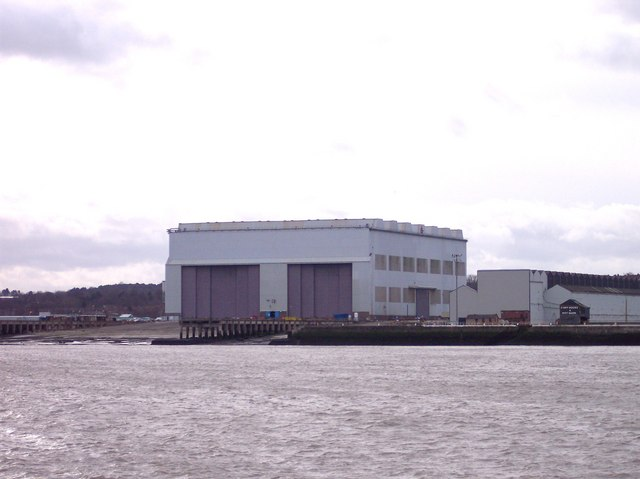 Cammell Laird's shipyards in Birkenhead