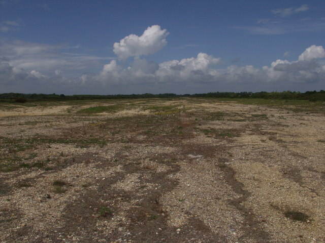 Remains of the runway on Greenham Common Airfield