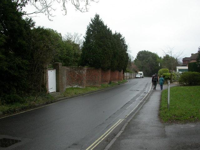 Lymington, crinkle-crankle wall (ii)