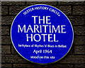 Photo of Maritime Hotel blue plaque