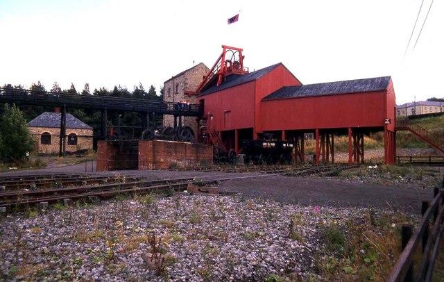 The coal mine at Beami...1990 Google Maps