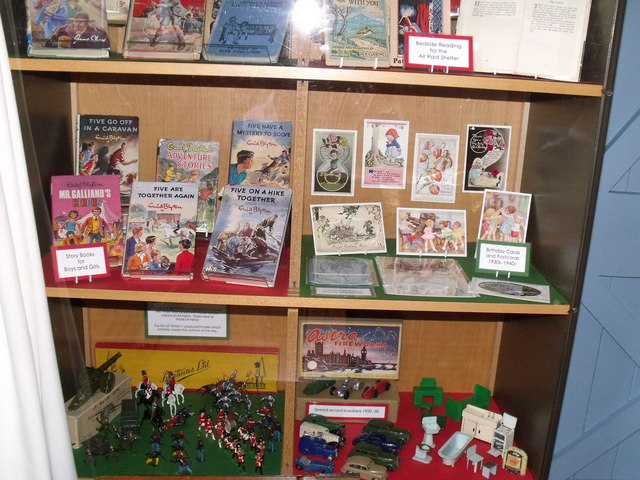 Display of children's books and toys, British Schools Museum, Hitchin