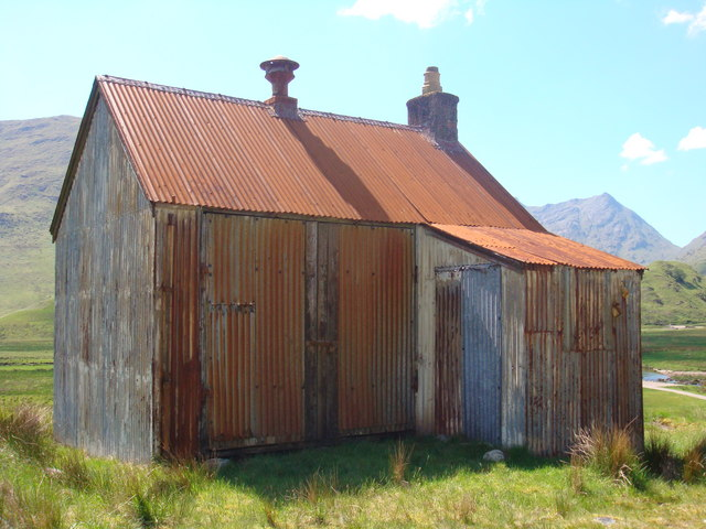 Corrugated Iron Shed At Strathan 169 Sally Geograph