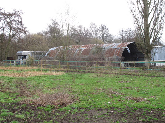 Old metal barn near Broadoak Farm