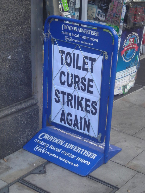 The toilet curse of Croydon