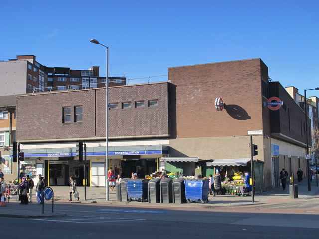 Stockwell tube station, Clapham Road / Binfield Road, SW4