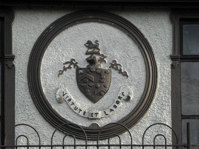 Plaque with Crest-of-Arms, Seskinore Orange Hall