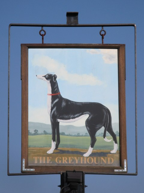 Sign for The Greyhound, Commonside, BR2