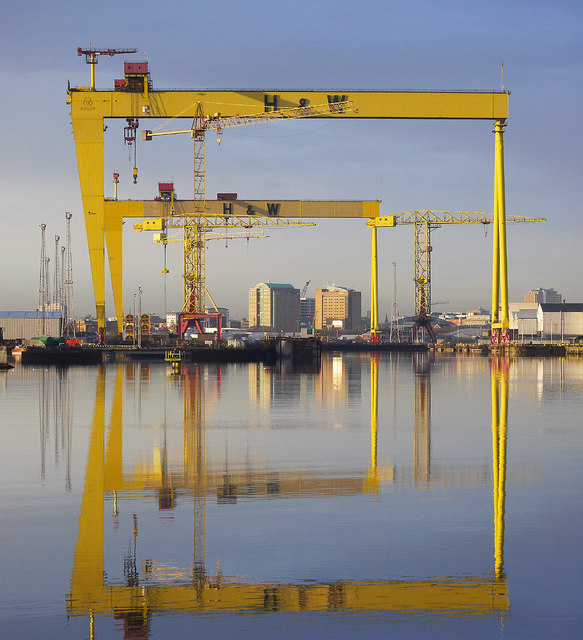 The most famous cranes in Belfast