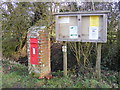 TM3681 : Rumburgh Village Notice Board &amp;  Aldous's Corner Postbox by Adrian Cable