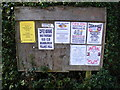 TM3481 : Rumburgh &amp; St.James Village Notice Board by Adrian Cable