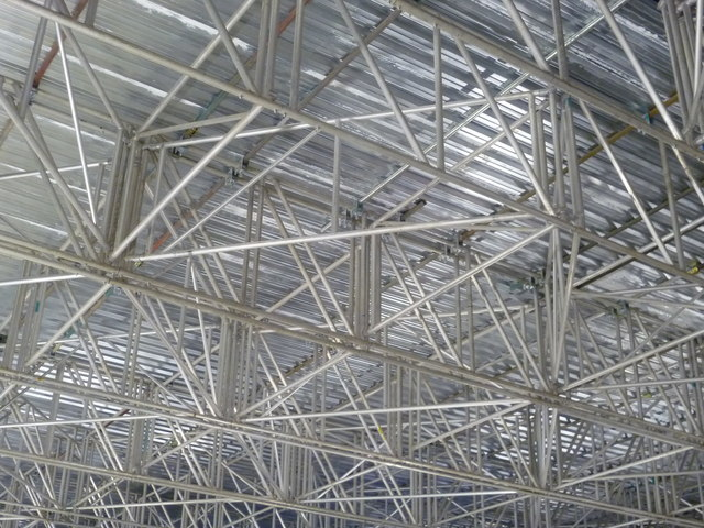 Roof scaffolding inside Waverley Station