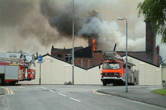 Elizabeth Mill Destroyed by Fire