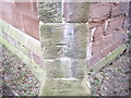 SJ4474 : Cut Mark: St Mary's Church, Thornton Le Moors by VBForever