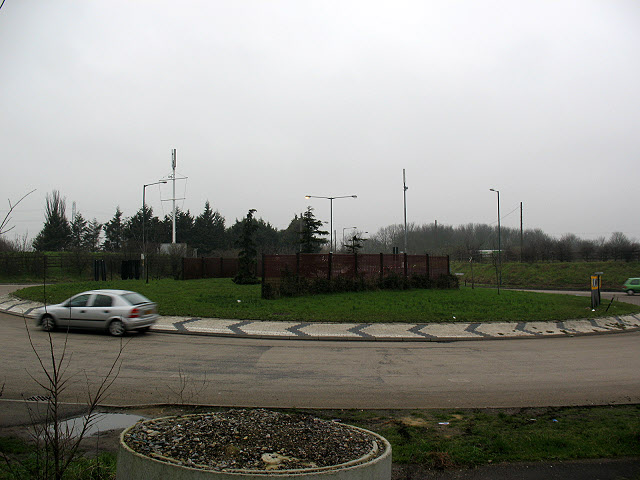 Roundabout on the Dartford bypass
