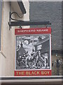 TQ5354 : The Black Boy, Pub Sign, Sevenoaks by David Anstiss