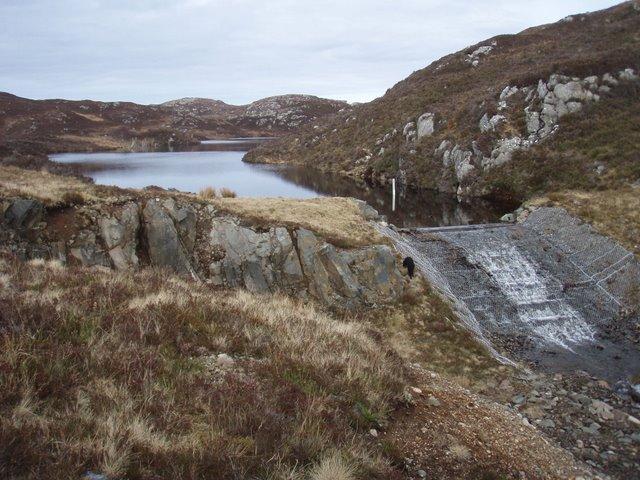 Loch Torr nan Uidhean spillway