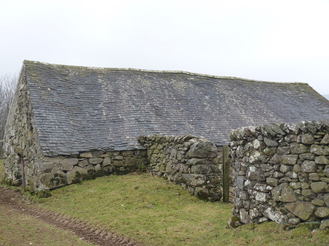 Farm building with irregular roof