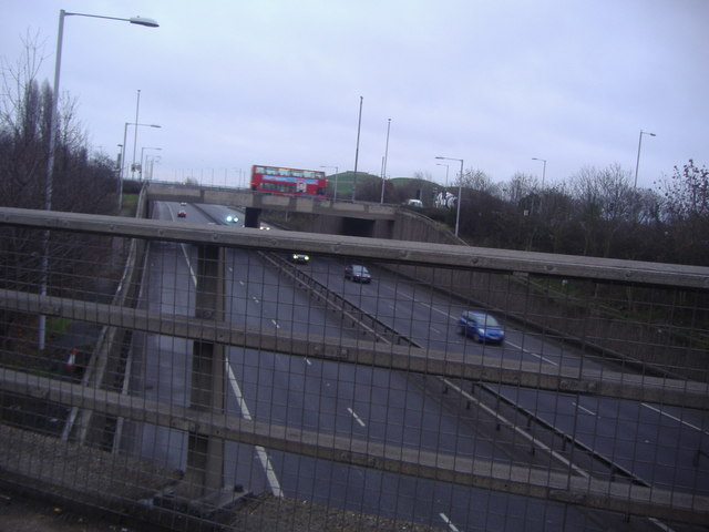 A40 from the Target roundabout, Northolt