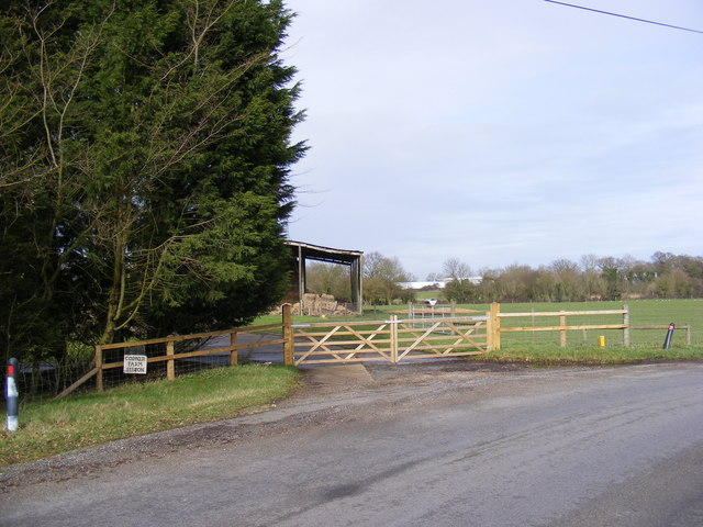 The gated entrance to Corner Farm, Sibton