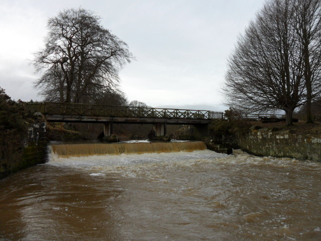 Hulne Park: Filbert Haugh Bridge and Weir