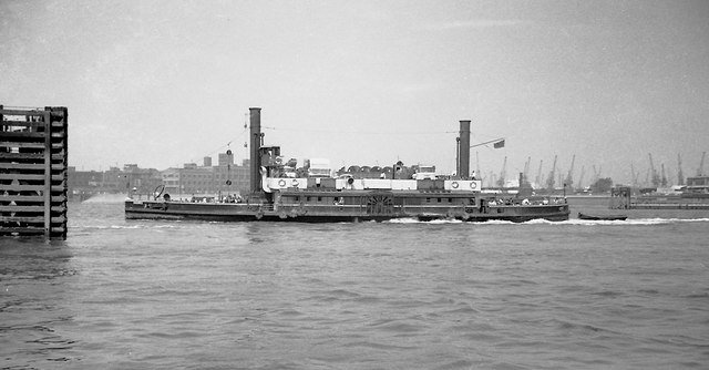 The Woolwich paddle steamer ferry in 1963