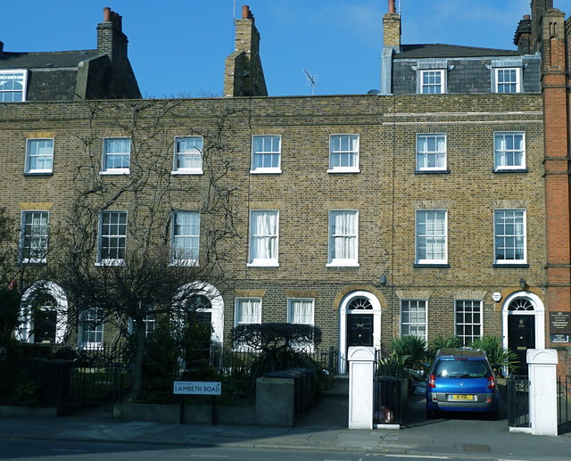 Georgian terrace on Lambeth Road, London