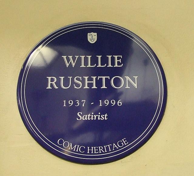 Willie Rushton blue plaque - Willie Rushton 1937-1996 satirist