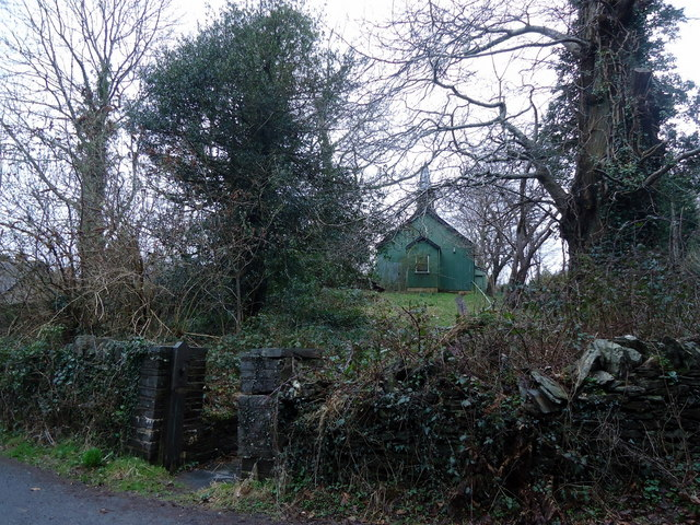 Tin tabernacle in Eglwys Fach, from SW