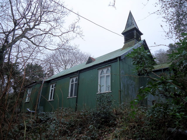 Tin tabernacle at Eglwys Fach, from the west
