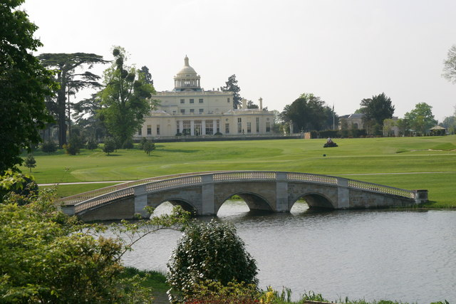 Repton Bridge and The Mansion at Stoke Park