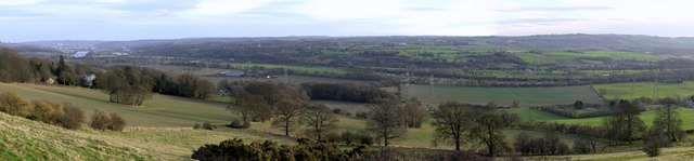 Tyne Valley panorama south-east of Heddon on the Wall