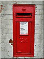 TM4656 : GR postbox in Aldeburgh - close-up by Adrian S Pye