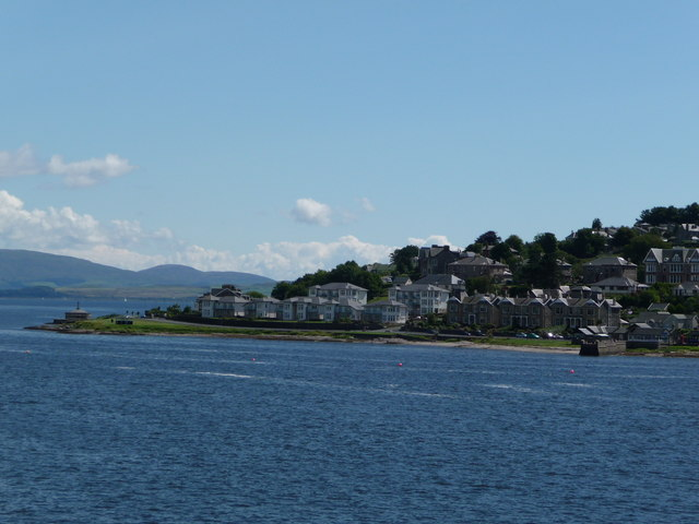 View of Bogany Point from Wemyss Bay Rothesay ferry