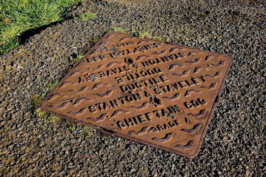 Stanton & Staveley manhole cover, Holywood