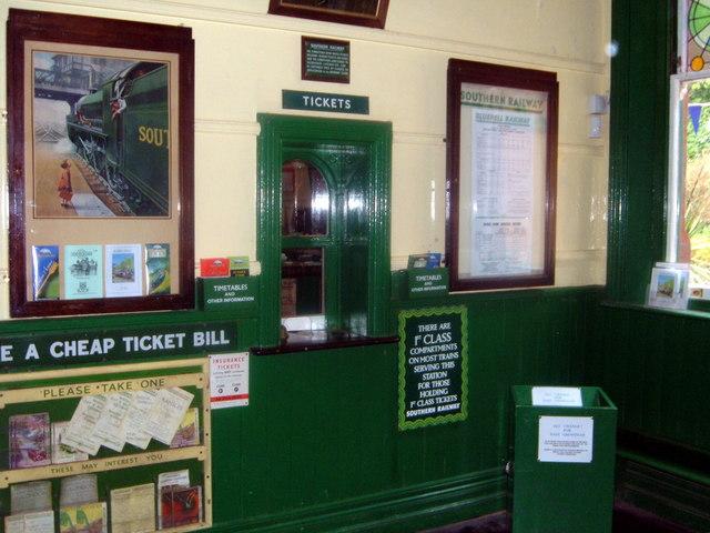 bluebell railway  horsted keynes ticket     u00a9 helmut